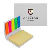 Micro Sticky Book-Clinton Stacked Logo