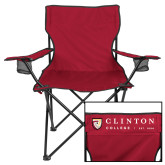 Deluxe Cardinal Captains Chair-Clinton Horizontal Logo