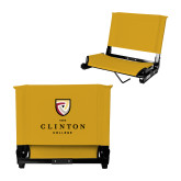 Stadium Chair Gold-Clinton Stacked Logo