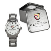 Mens Stainless Steel Fashion Watch-Clinton Stacked Logo