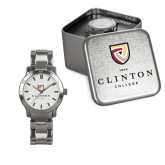 Ladies Stainless Steel Fashion Watch-Clinton Stacked Logo