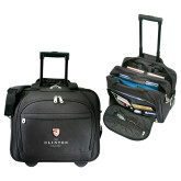 Embassy Plus Rolling Black Compu Brief-Clinton Stacked Logo