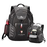 High Sierra Big Wig Black Compu Backpack-Clinton Stacked Logo