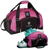 Ogio Pink Big Dome Bag-Clinton Stacked Logo