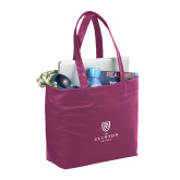 Fine Society Berry Computer Tote-Clinton Stacked Logo