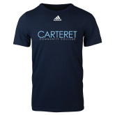 Adidas Navy Logo T Shirt-Wordmark
