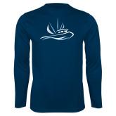 Performance Navy Longsleeve Shirt-Icon