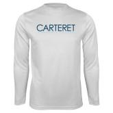 Performance White Longsleeve Shirt-Wordmark