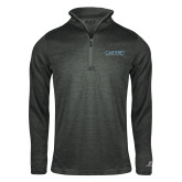 Russell Charcoal Heather 1/4 Zip-Wordmark
