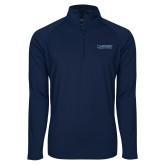 Sport Wick Stretch Navy 1/2 Zip Pullover-Wordmark