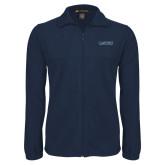 Fleece Full Zip Navy Jacket-Wordmark