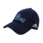 Adidas Navy Slouch Unstructured Low Profile Hat-Primary Mark