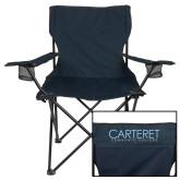 Deluxe Navy Captains Chair-Wordmark
