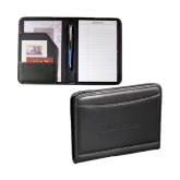 Millenium Black Leather Jr. Writing Pad-Charleston Flat Deboss