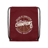 Maroon Drawstring Backpack-CAA Mens Basketball Champions