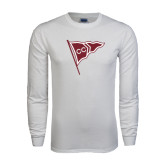 White Long Sleeve T Shirt-CC Sailing Flag Rising