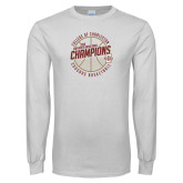White Long Sleeve T Shirt-CAA Mens Basketball Champions