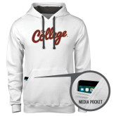 Contemporary Sofspun White Hoodie-The College Script
