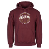 Maroon Fleece Hoodie-CAA Mens Basketball Champions