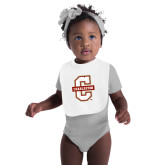 White Baby Bib-Official Logo - C Charleston