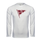 Syntrel Performance White Longsleeve Shirt-CC Sailing Flag Rising