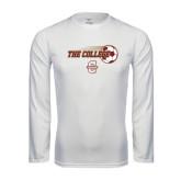 Performance White Longsleeve Shirt-Soccer Ball Design