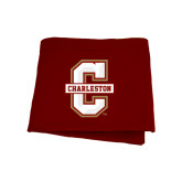 Maroon Sweatshirt Blanket-Official Logo - C Charleston