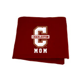 Maroon Sweatshirt Blanket-Mom