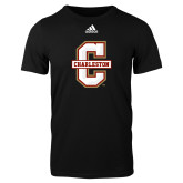 Adidas Black Logo T Shirt-Official Logo - C Charleston