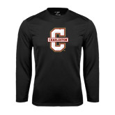 Performance Black Longsleeve Shirt-Official Logo - C Charleston
