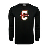 Black Long Sleeve TShirt-Official Logo - C Charleston