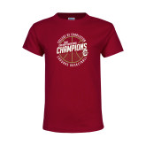 Youth Maroon T Shirt-CAA Mens Basketball Champions