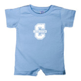 Light Blue Infant Romper-Official Logo - C Charleston