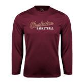 Syntrel Performance Maroon Longsleeve Shirt-Basketball