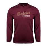 Syntrel Performance Maroon Longsleeve Shirt-Baseball