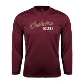 Syntrel Performance Maroon Longsleeve Shirt-Soccer
