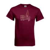 Maroon T Shirt-Sail Boat Design