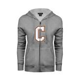 ENZA Ladies Grey Fleece Full Zip Hoodie-C