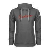 Adidas Climawarm Charcoal Team Issue Hoodie-Charleston Script