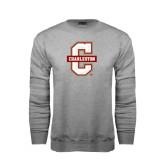 Grey Fleece Crew-Official Logo - C Charleston