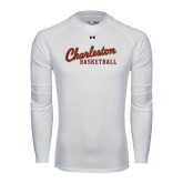 Under Armour White Long Sleeve Tech Tee-Basketball