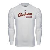Under Armour White Long Sleeve Tech Tee-Soccer