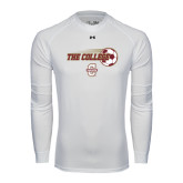 Under Armour White Long Sleeve Tech Tee-Soccer Ball Design