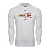 Under Armour White Long Sleeve Tech Tee-Soccer Ball Design