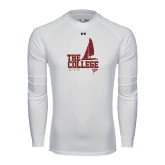 Under Armour White Long Sleeve Tech Tee-Sail Boat Design
