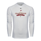 Under Armour White Long Sleeve Tech Tee-Sailing Anchor Design