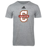 Adidas Sport Grey Logo T Shirt-Official Logo - C Charleston