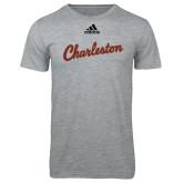 Adidas Sport Grey Logo T Shirt-Charleston Script