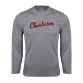 Performance Steel Longsleeve Shirt-Charleston Script