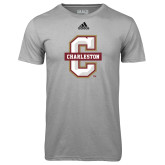 Adidas Climalite Sport Grey Ultimate Performance Tee-Official Logo - C Charleston